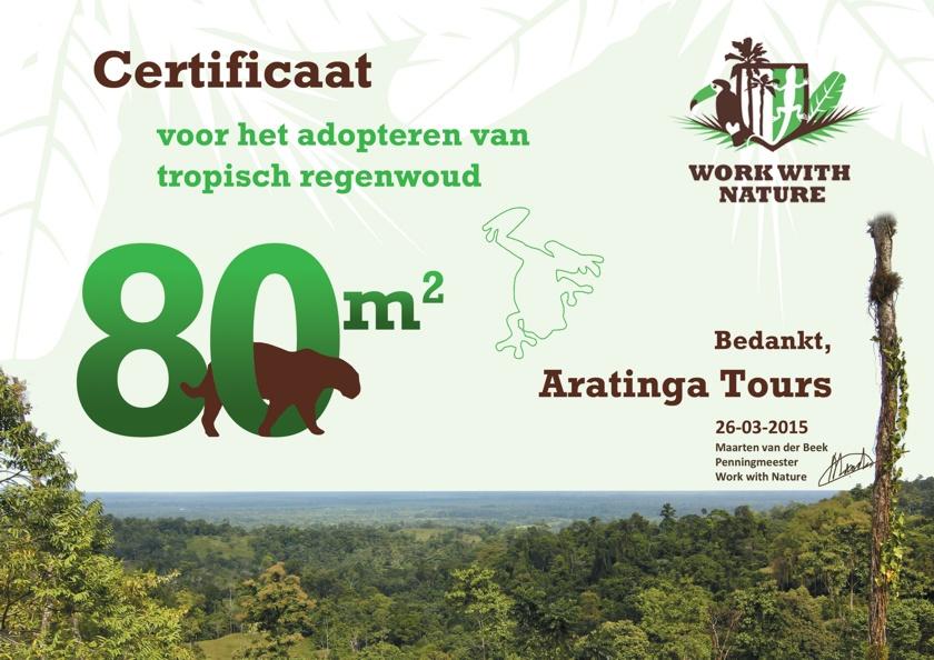 Aratinga Tours adopteert regenwoud in bufferzone van Barbilla Nationaal Park