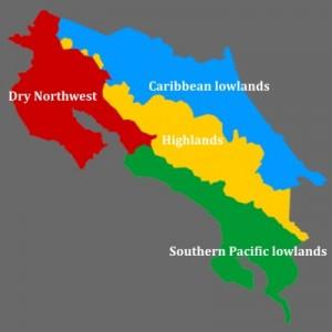 Costa Rica's 4 Eco-zones