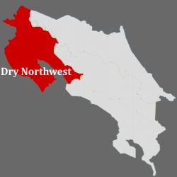Costa Rica's dry nothwest